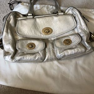 Coach Gold Purse with Dust Bag
